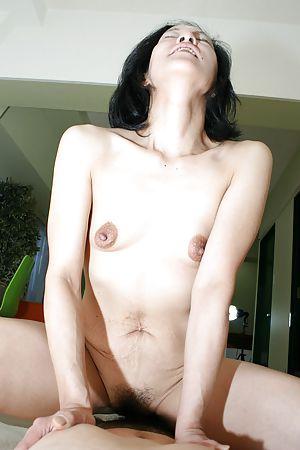 Japanese granny Aya Sakuma sucks cock and gets her pussy teased a