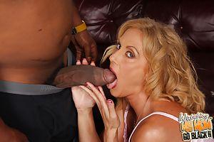 Cougar Mom makes son watch as she fucks black dick