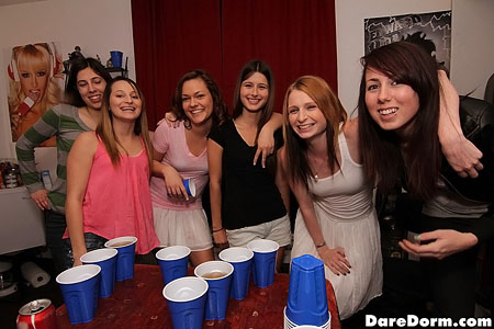All girl college threesome gets hot