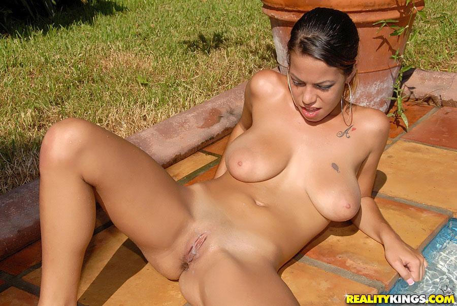 Big Tit Latina Poolside