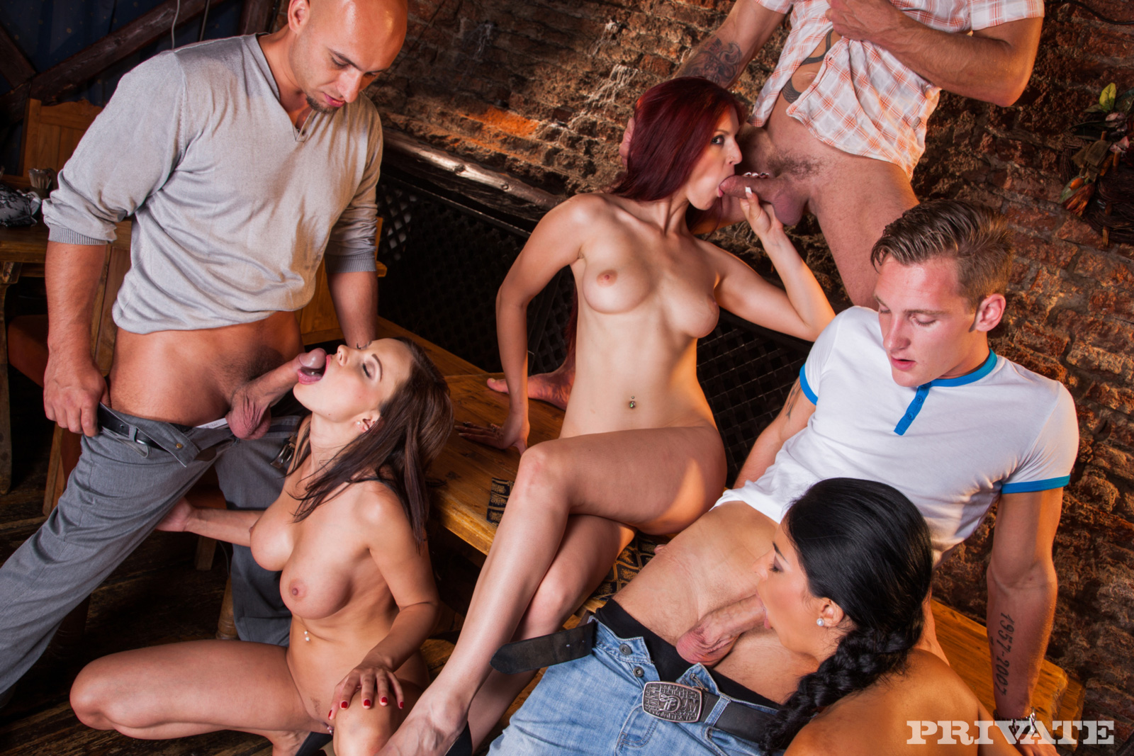 Ending The Work With Group Sex