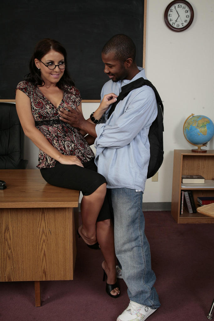 White teachers black cock